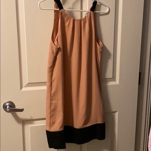 Color block halter dress